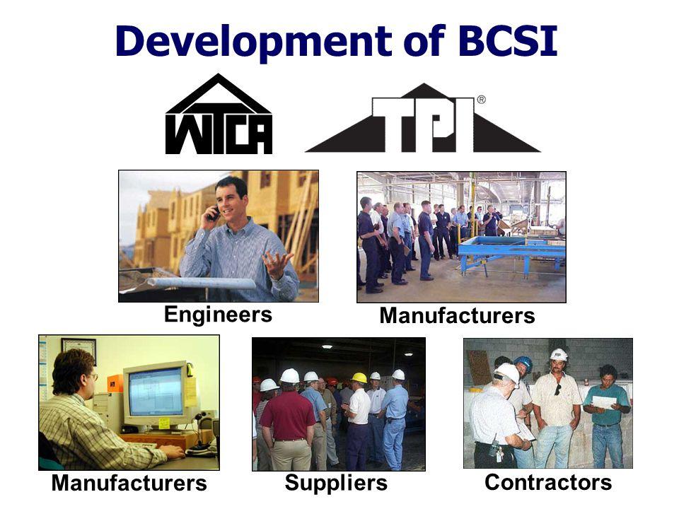 Development of BCSI Engineers Manufacturers Suppliers Contractors