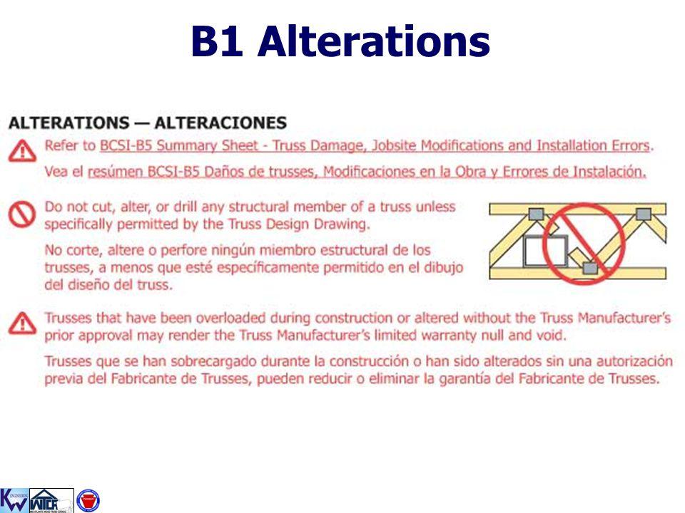 B1 Alterations
