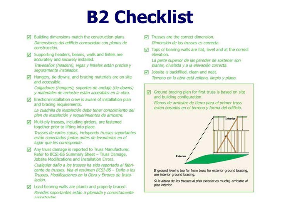B2 Checklist