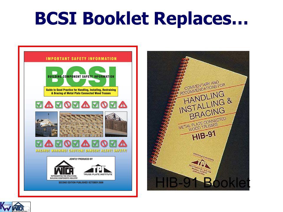 BCSI Booklet Replaces…