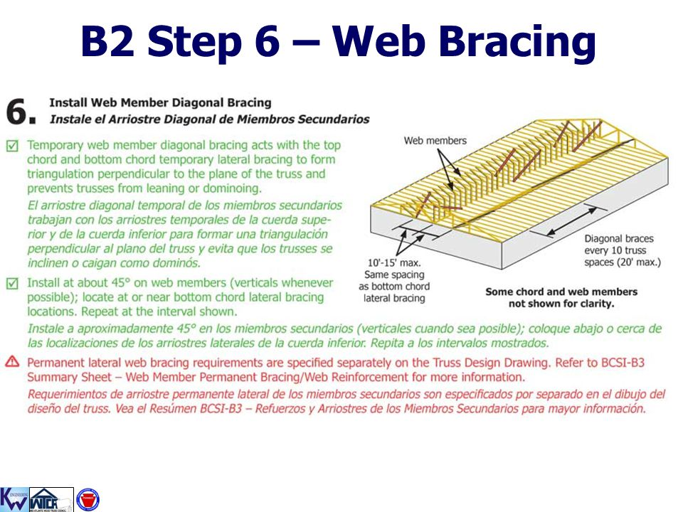 B2 Step 6 – Web Bracing