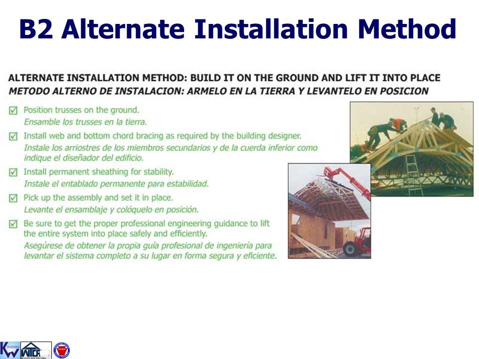 B2 Alternate Installation Method
