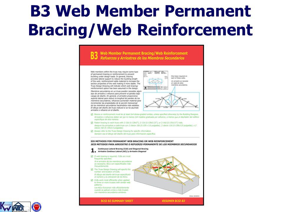 B3 Web Member Permanent Bracing/Web Reinforcement