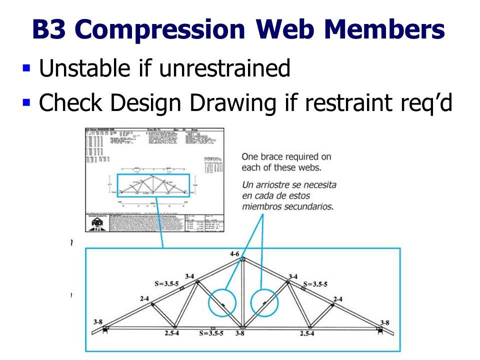 B3 Compression Web Members