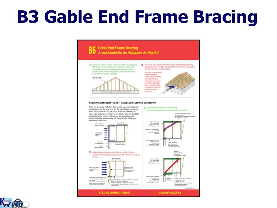 B3 Gable End Frame Bracing
