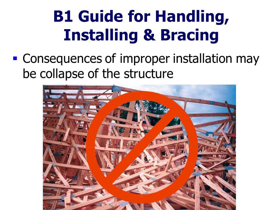 B1 Guide for Handling, Installing & Bracing