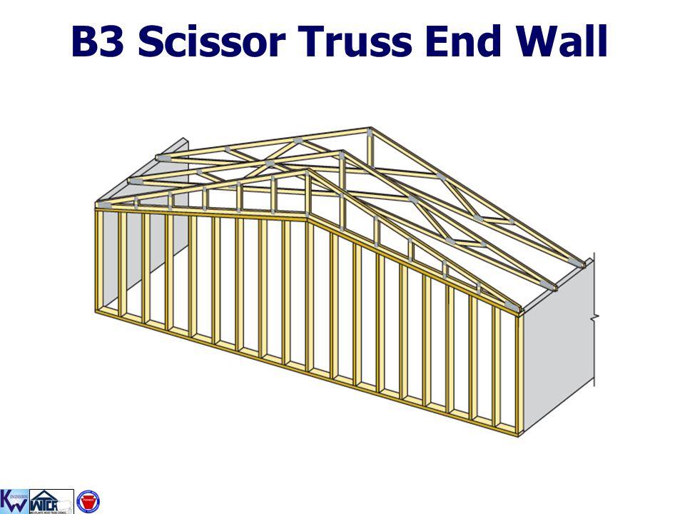 B3 Scissor Truss End Wall