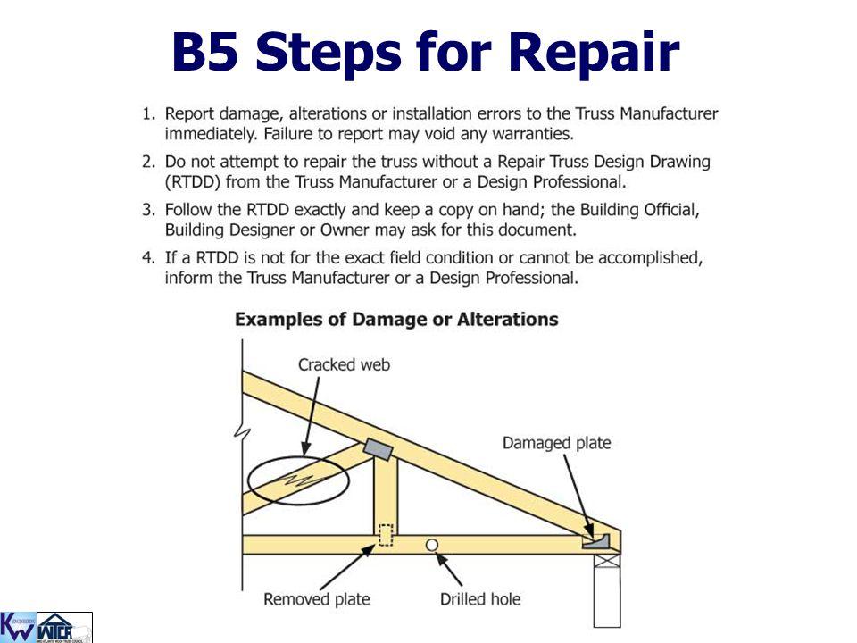 B5 Steps for Repair
