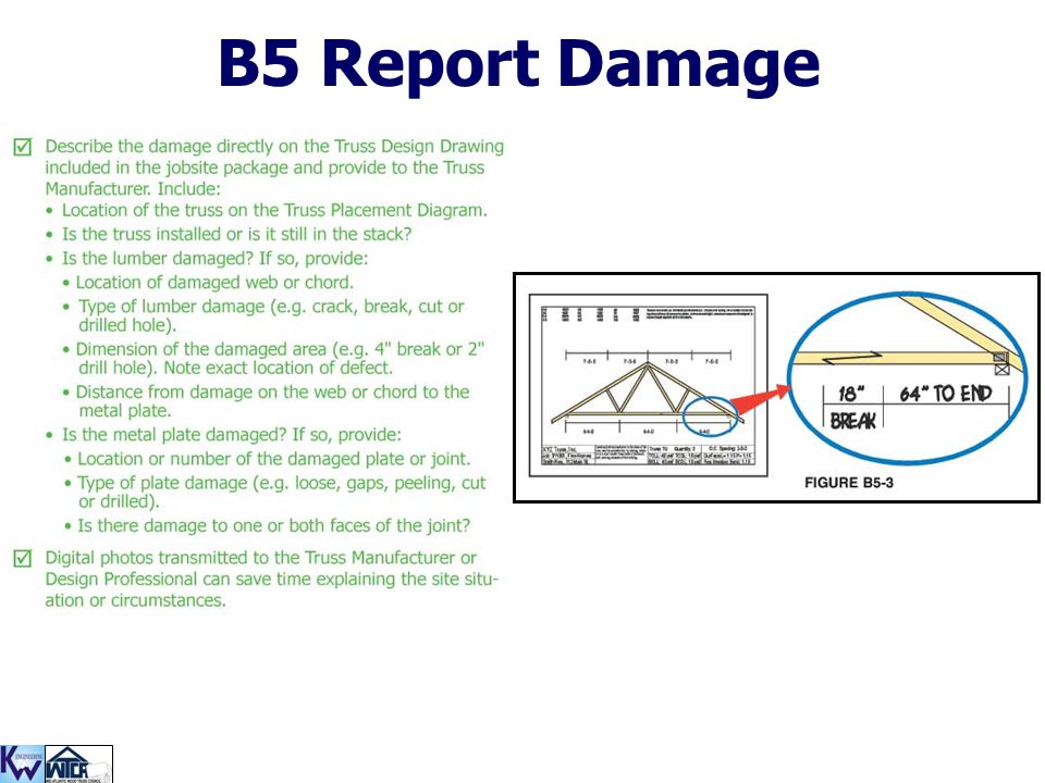 B5 Report Damage