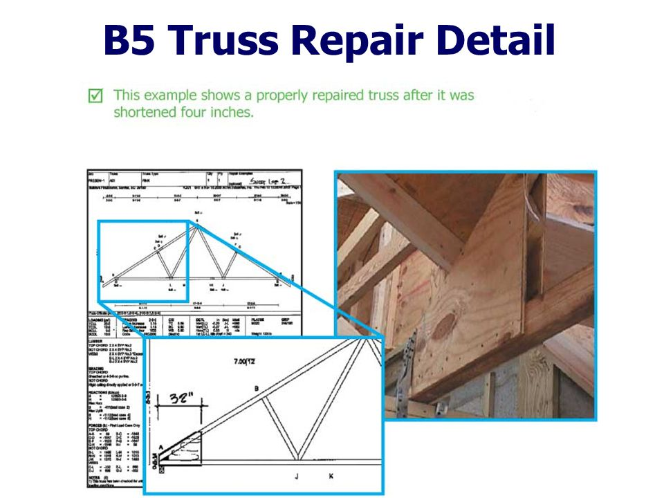 B5 Truss Repair Detail