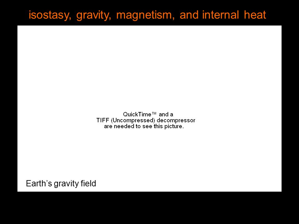 isostasy, gravity, magnetism, and internal heat