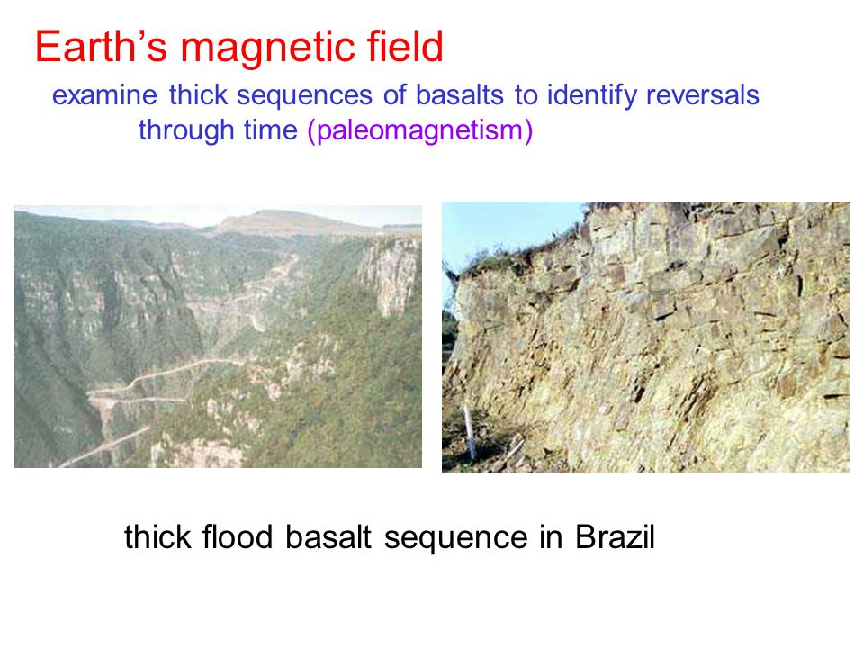 thick flood basalt sequence in Brazil