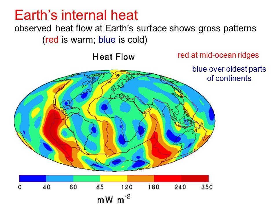 red at mid-ocean ridges