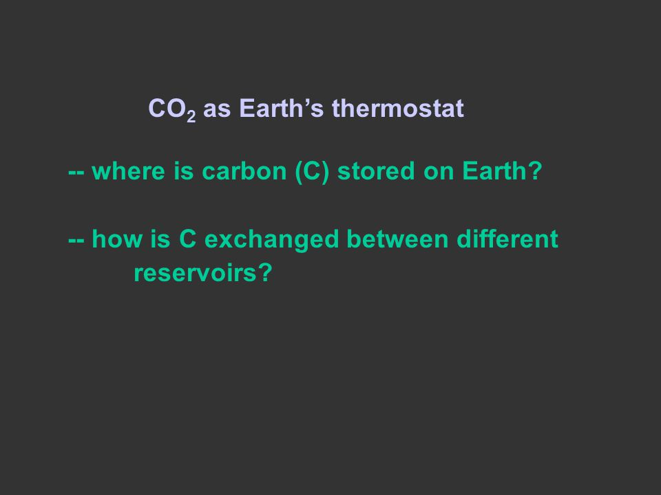CO2 as Earth's thermostat