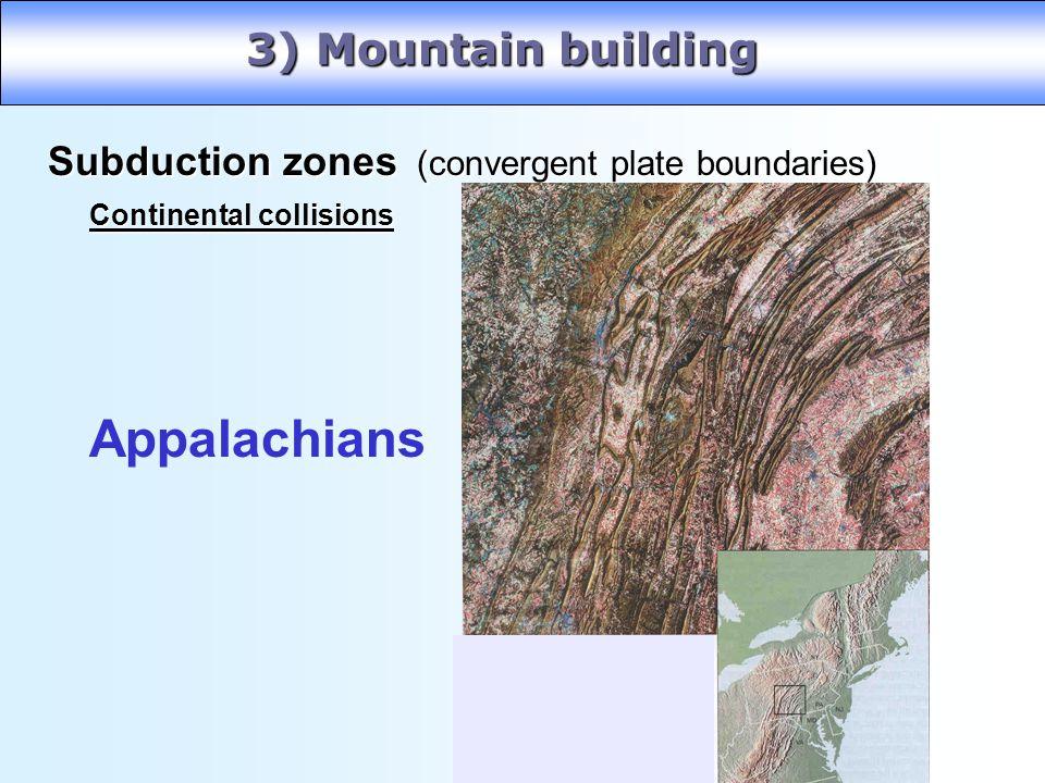 Appalachians 3) Mountain building