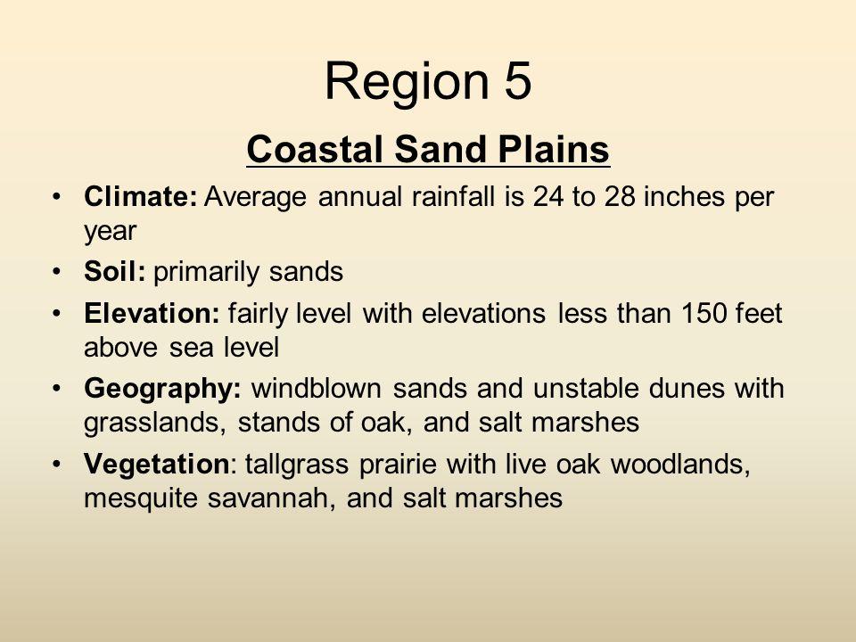 Region 5 Coastal Sand Plains