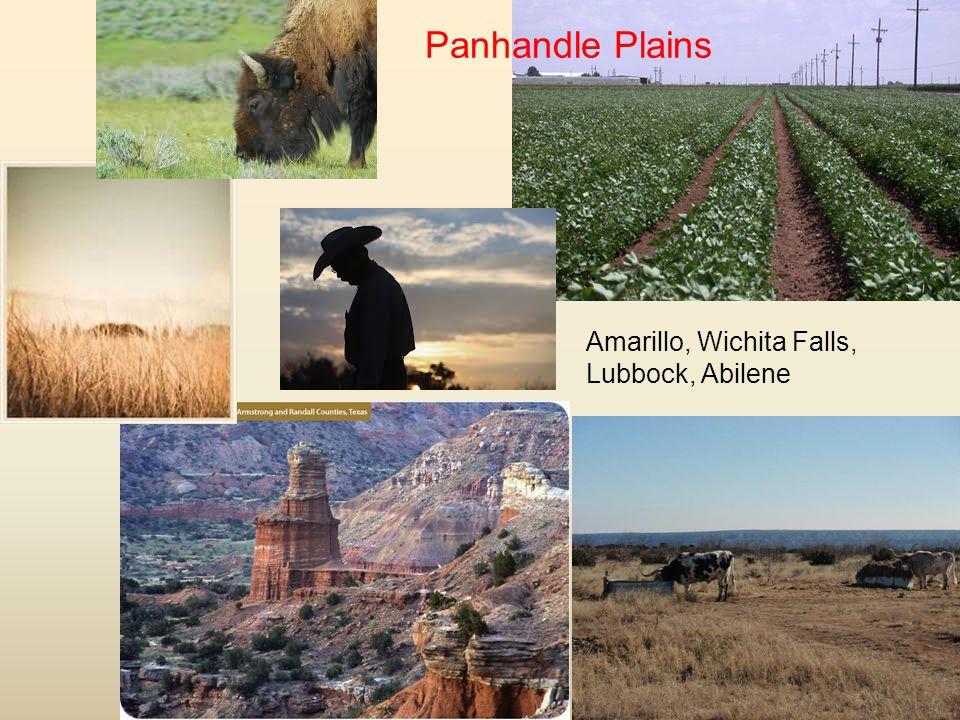 Panhandle Plains Amarillo, Wichita Falls, Lubbock, Abilene
