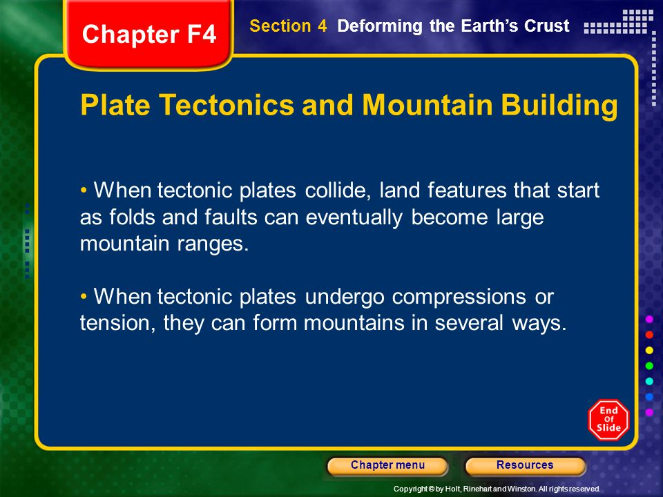 Plate Tectonics and Mountain Building