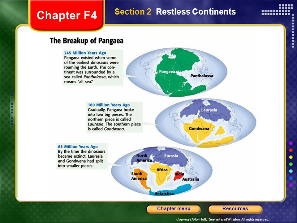 Chapter F4 Section 2 Restless Continents
