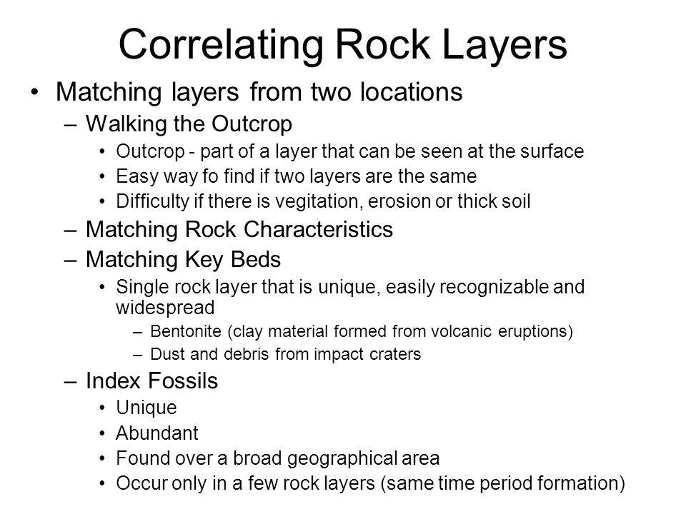 Correlating Rock Layers