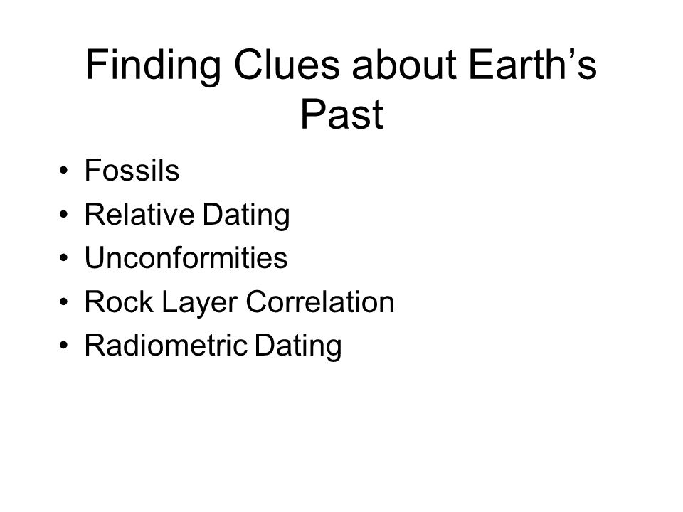 Finding Clues about Earth's Past