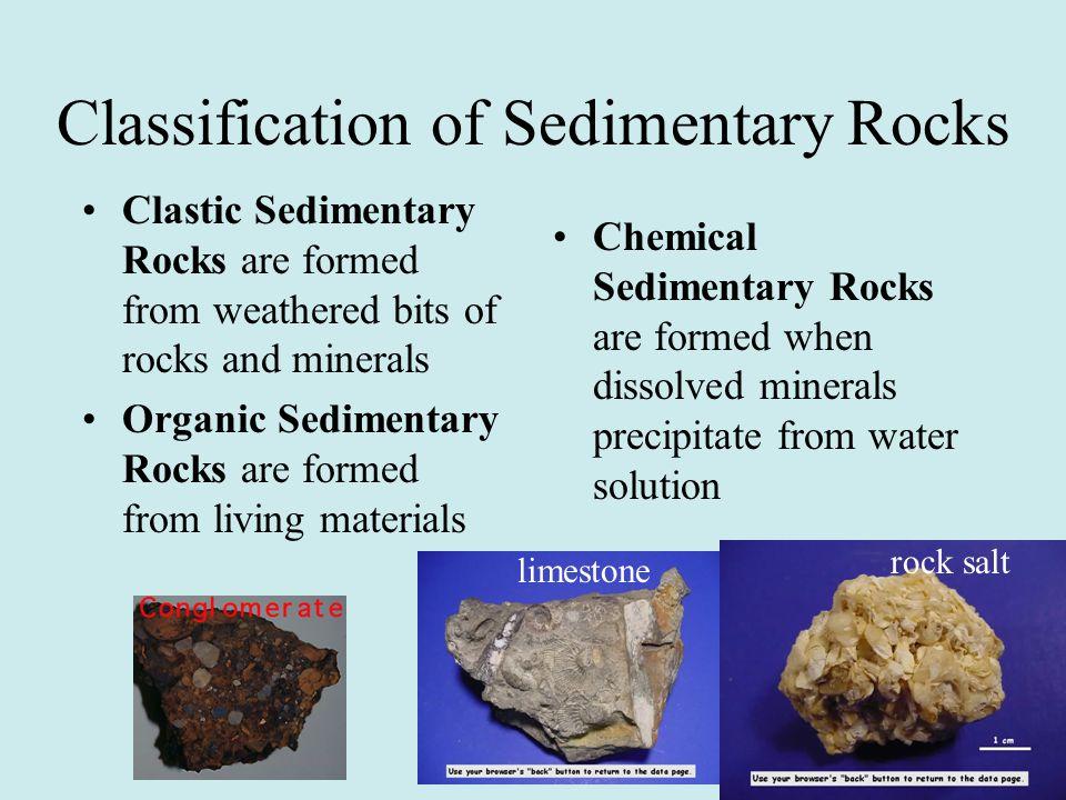 Classification of Sedimentary Rocks