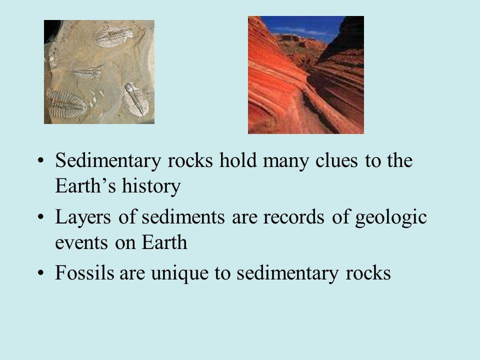 Sedimentary rocks hold many clues to the Earth's history