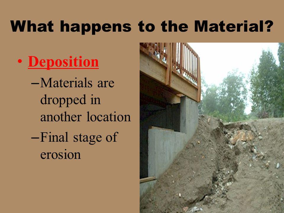 What happens to the Material