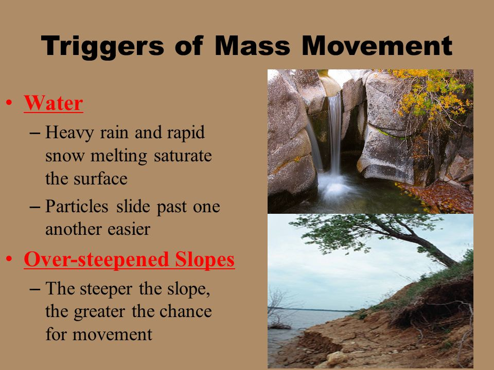 Triggers of Mass Movement