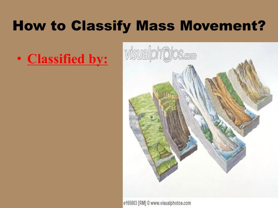 How to Classify Mass Movement