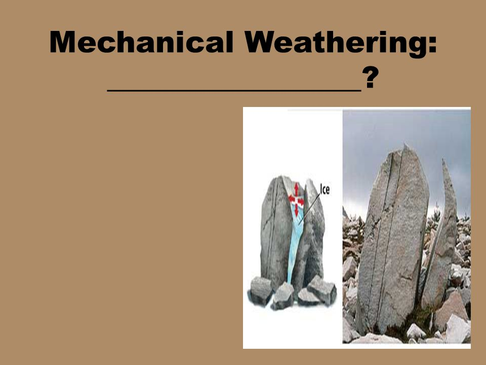 Mechanical Weathering: _________________