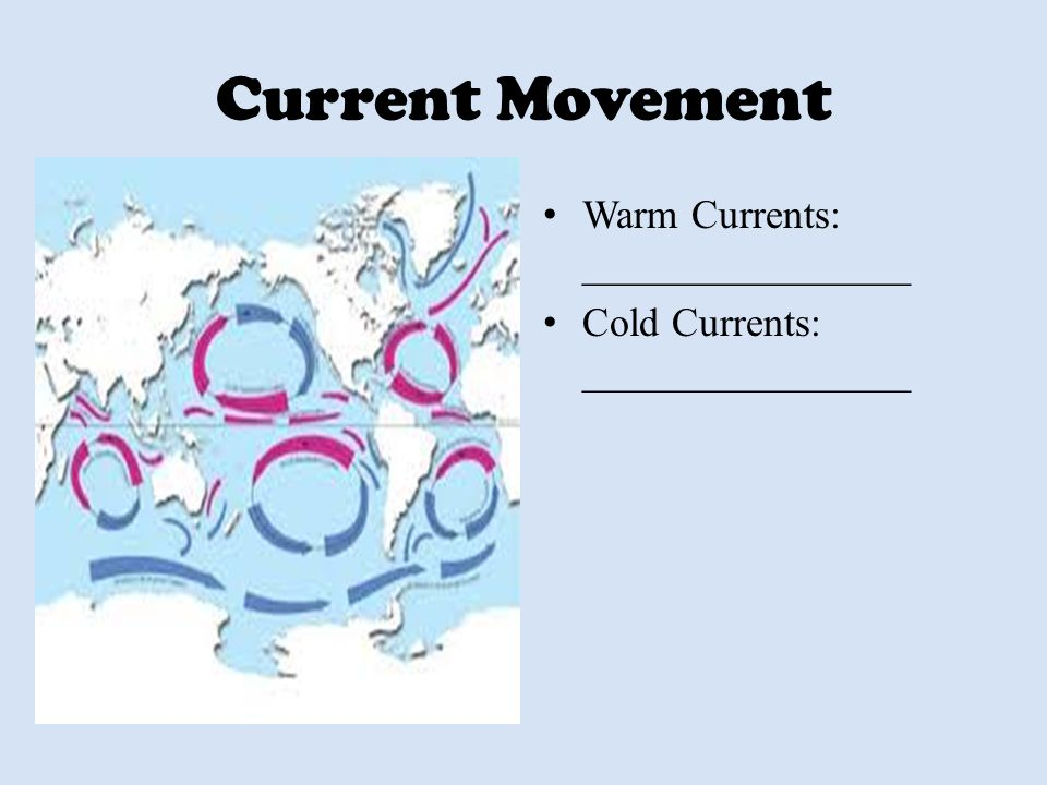 Current Movement Warm Currents: ________________