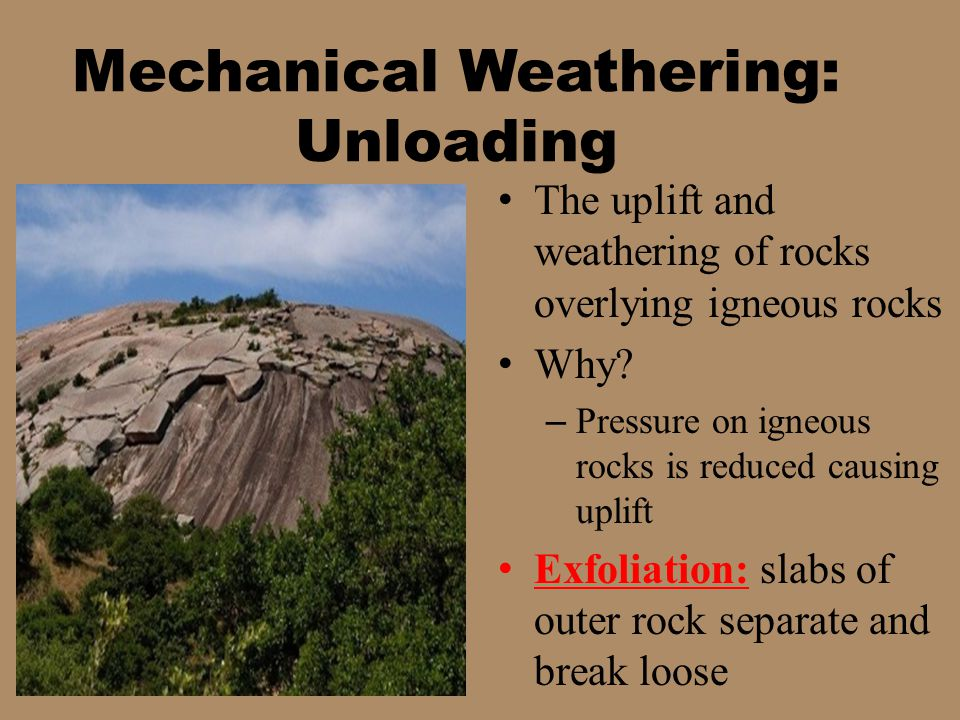 Mechanical Weathering: Unloading