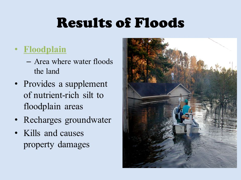 Results of Floods Floodplain