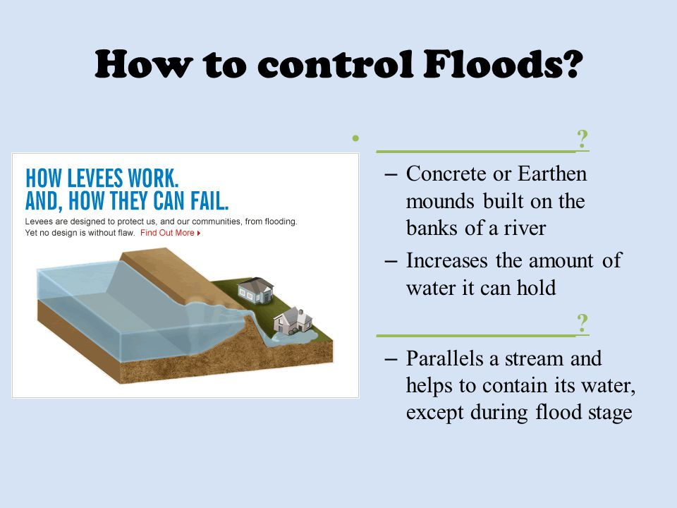 How to control Floods _______________