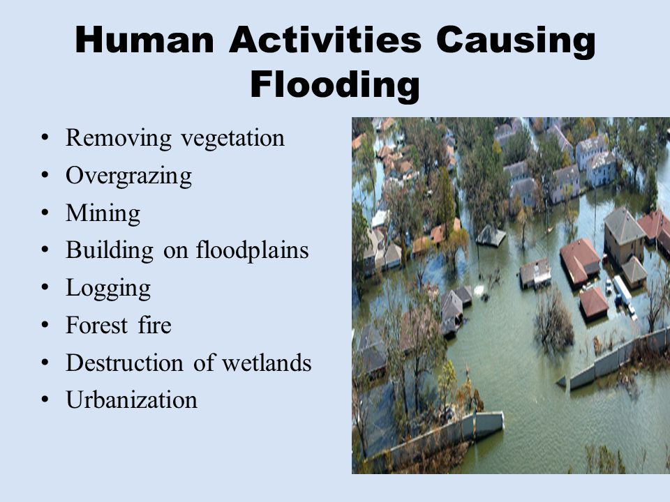 Human Activities Causing Flooding