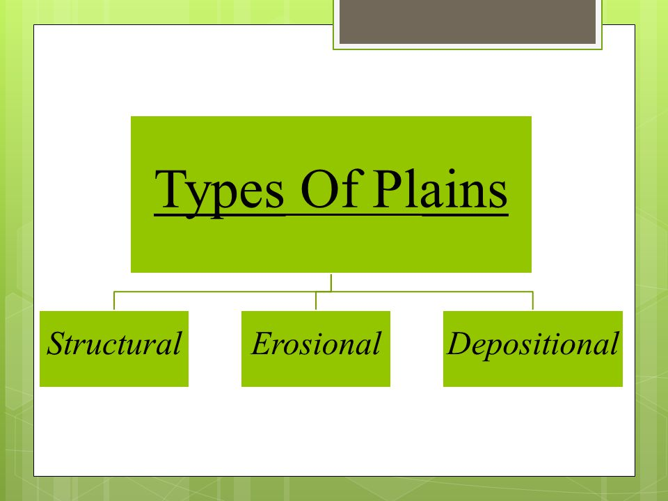 Types Of Plains Structural Erosional Depositional