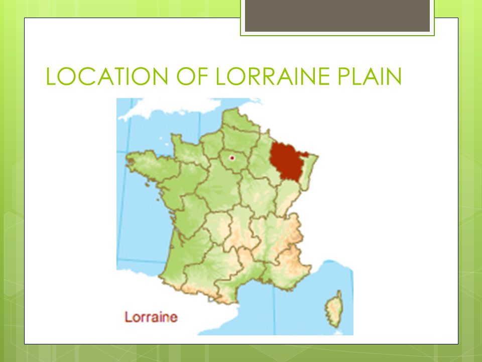 LOCATION OF LORRAINE PLAIN