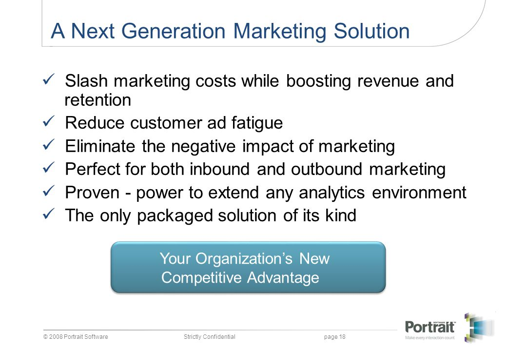 A Next Generation Marketing Solution