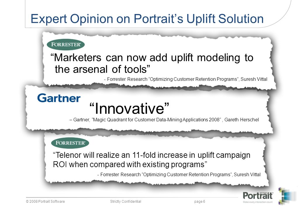 Expert Opinion on Portrait's Uplift Solution