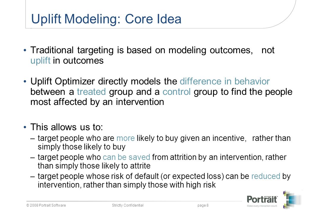 Uplift Modeling: Core Idea