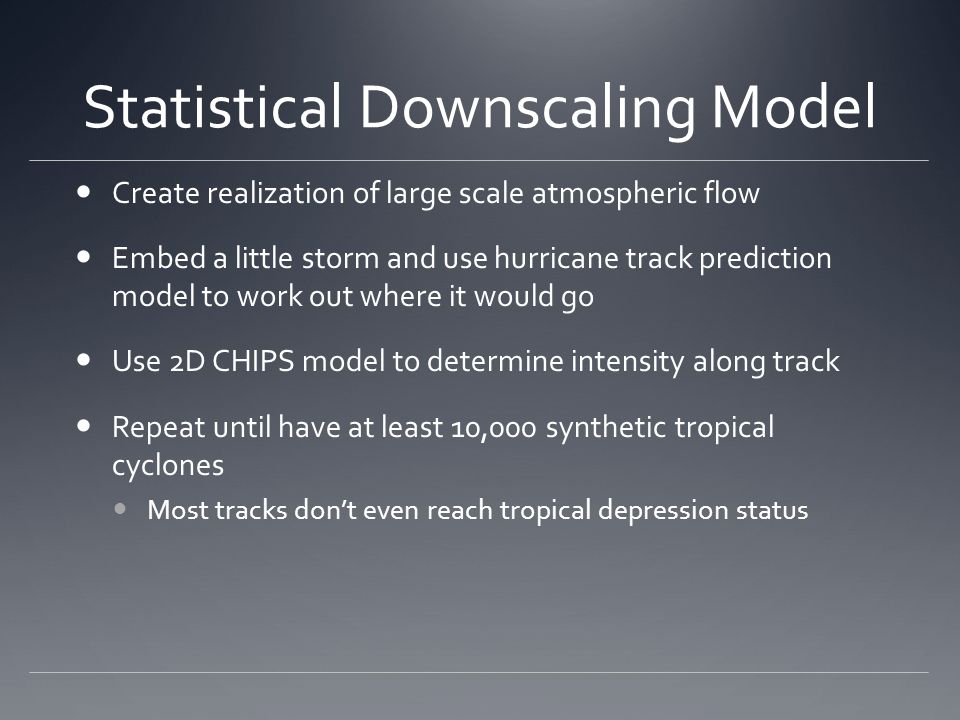 Statistical Downscaling Model