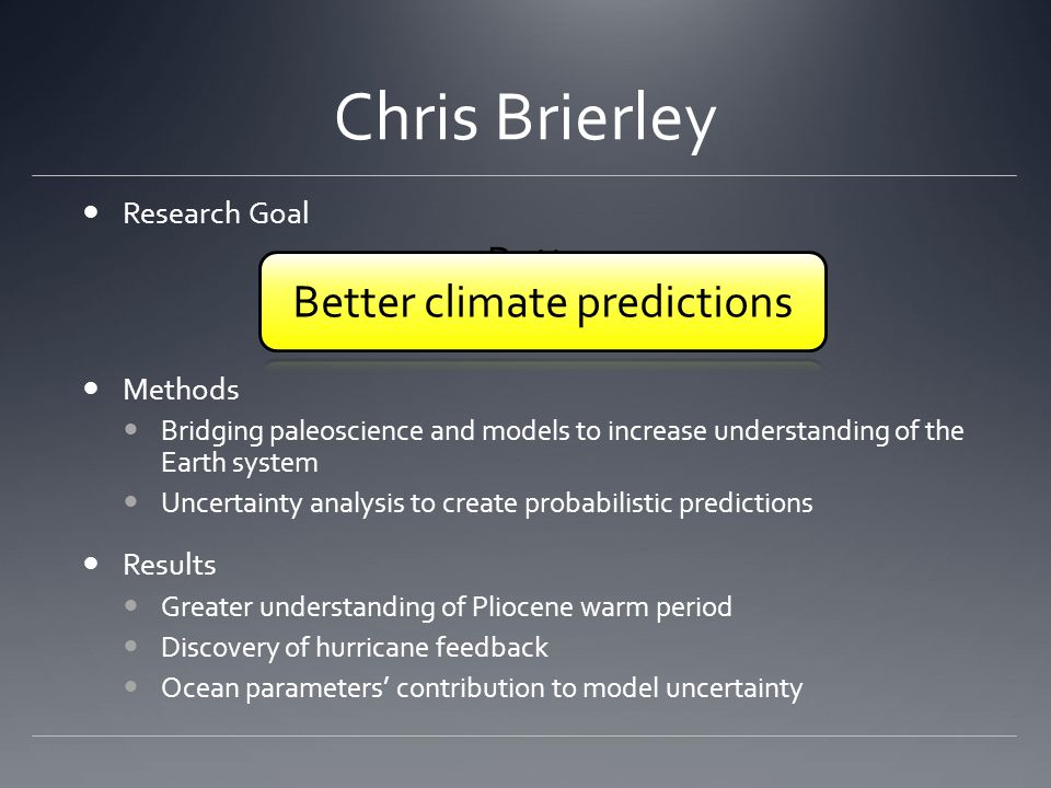 Better climate predictions