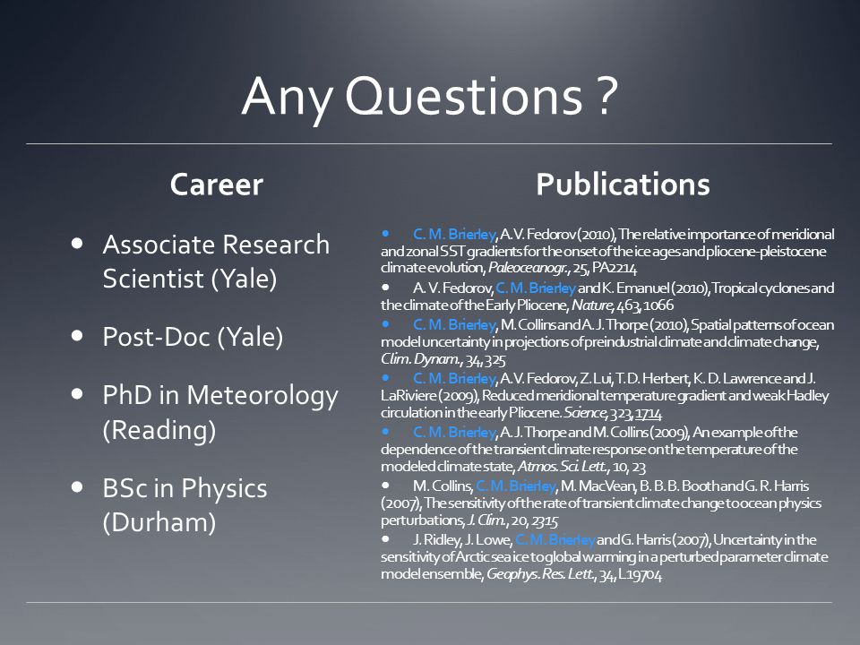 Any Questions Career Publications