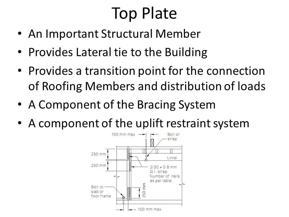Top Plate An Important Structural Member