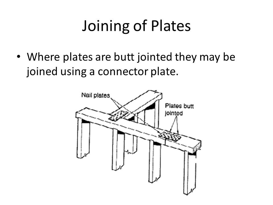 Joining of Plates Where plates are butt jointed they may be joined using a connector plate.