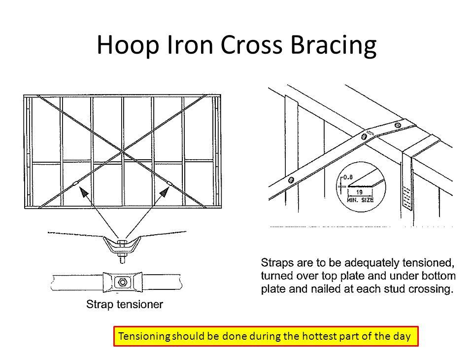 Hoop Iron Cross Bracing