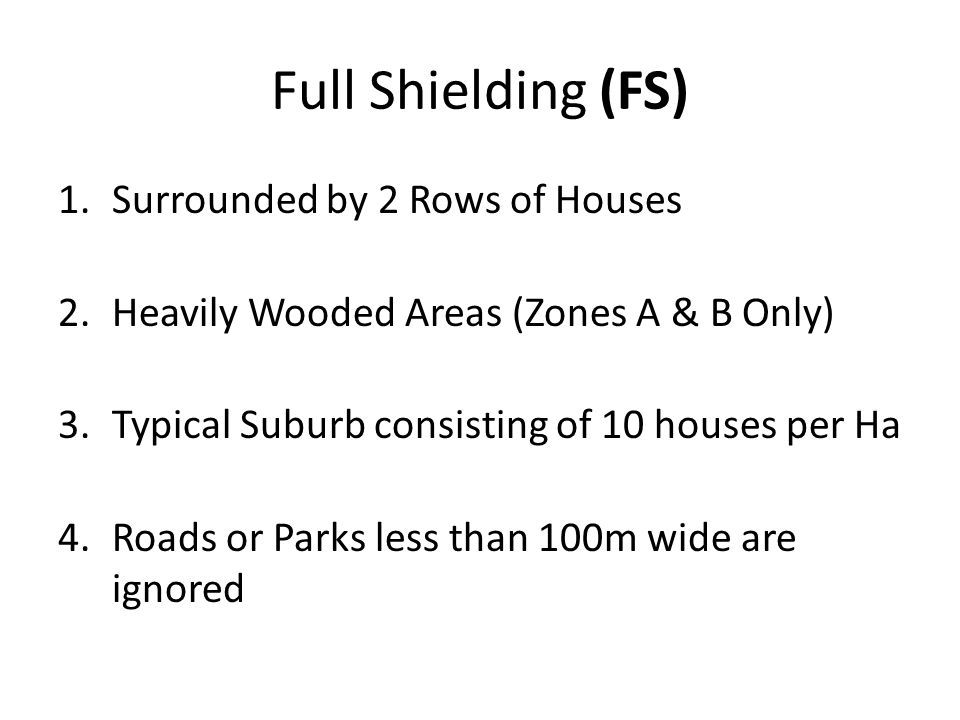 Full Shielding (FS) Surrounded by 2 Rows of Houses