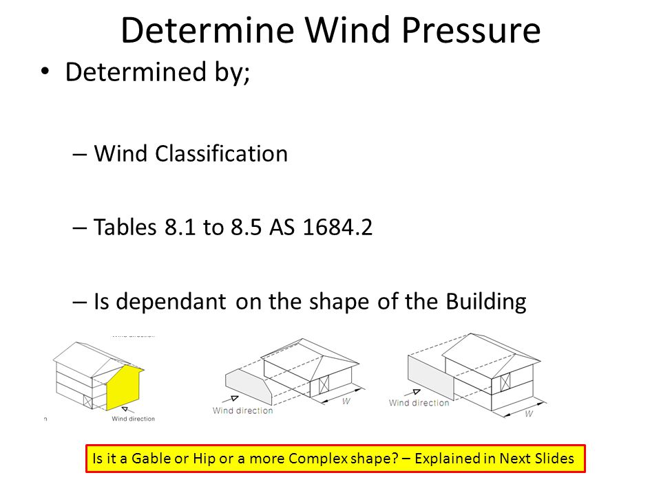 Determine Wind Pressure