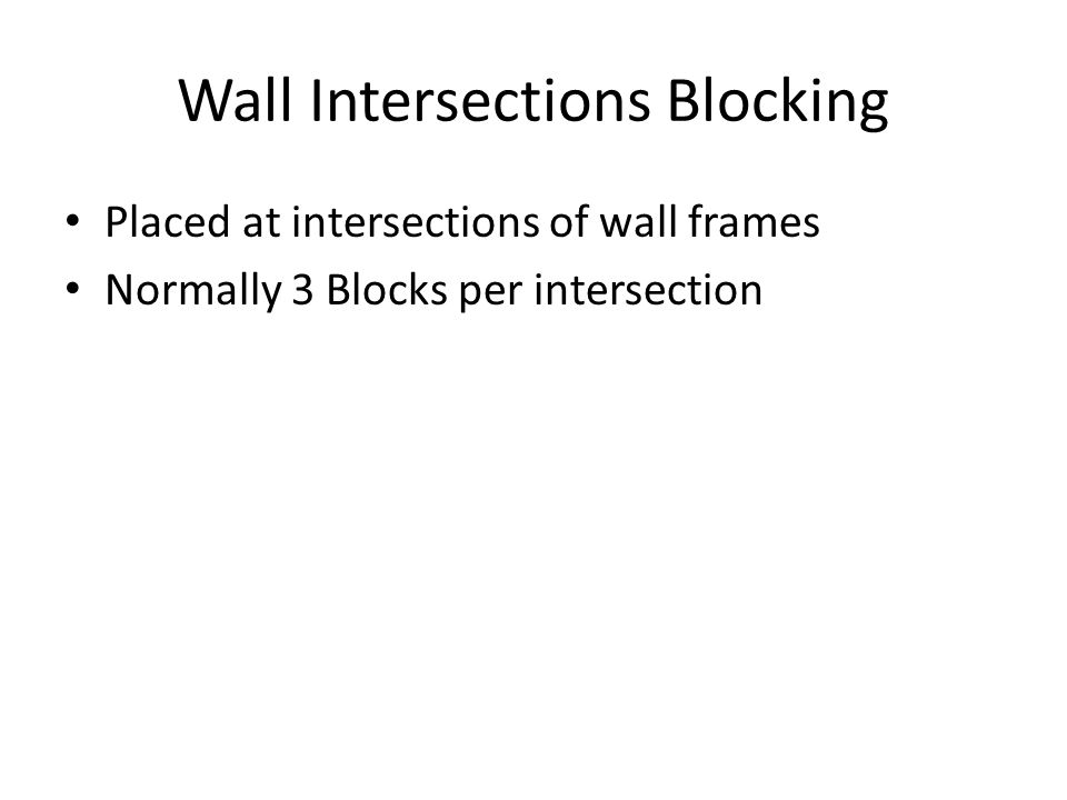 Wall Intersections Blocking